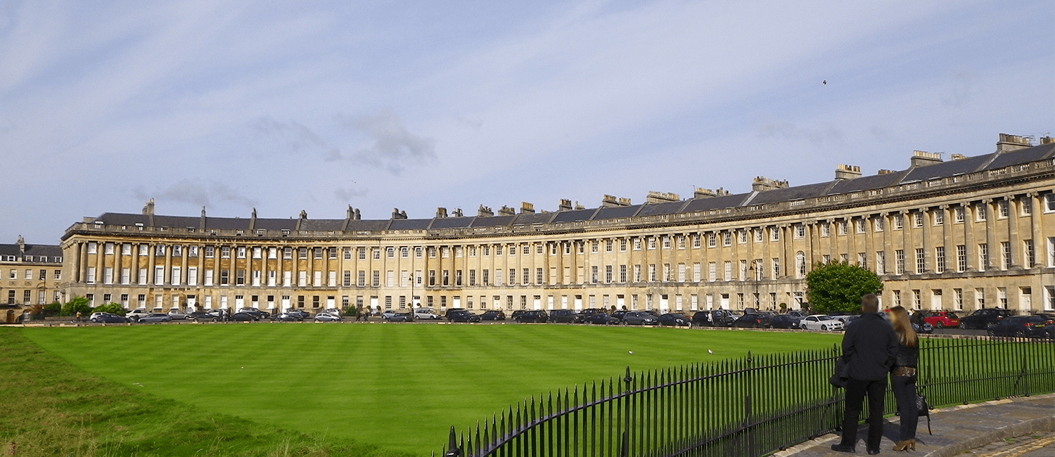 The Royal Crescent Building in Bath.